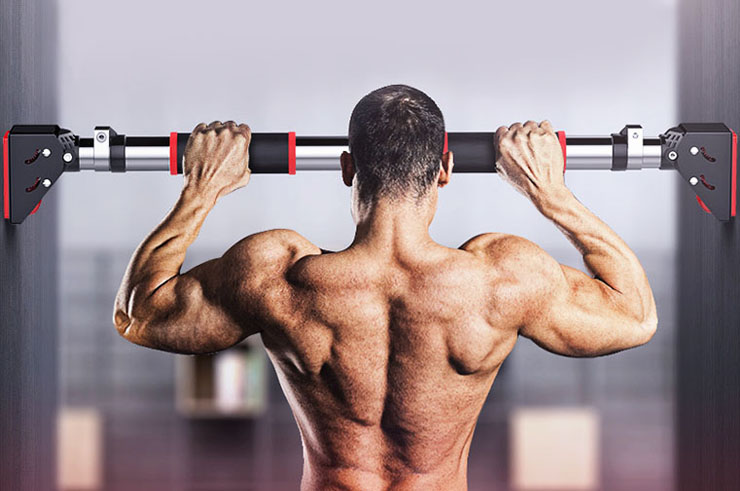 Doorway pull-up bar with non-slip pads - Ultra strong
