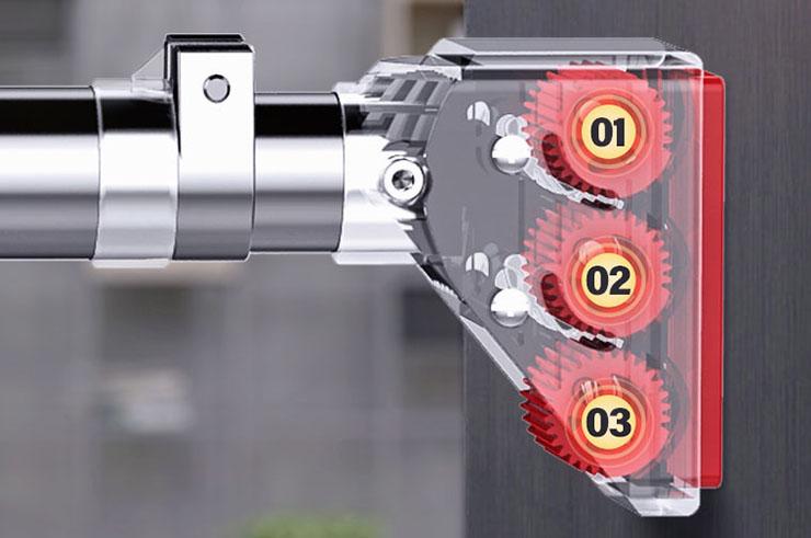 Barre de traction pour porte avec coussins antidérapants - Ultra solide