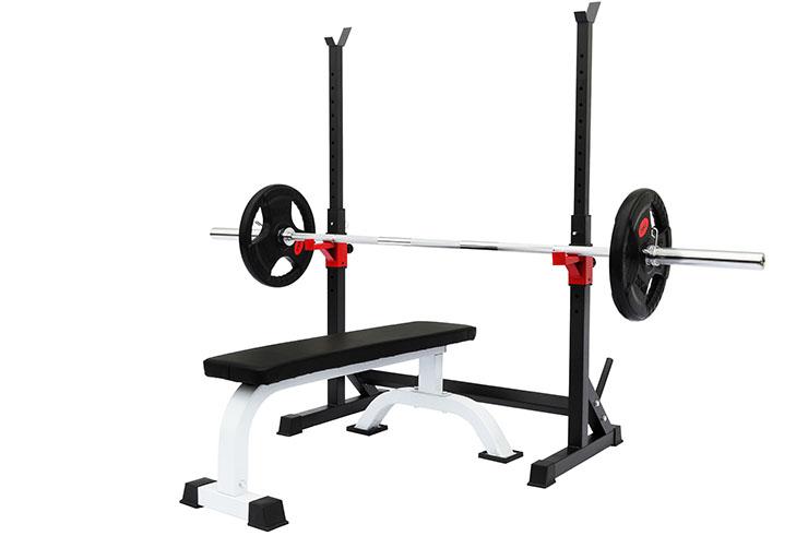 Soporte Ajustable para Barra de Musculación