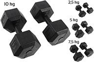 cont55-Haltères Hexagonales 2,5 à 10 kg
