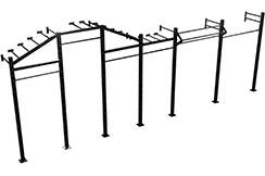Barras de mononn Montadas en la pared, plataforma de levantamiento