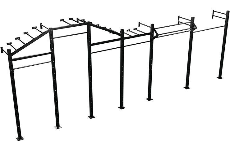 Wallmounted Flying Monkey Bars, Pull Up & Lift Offs Rig