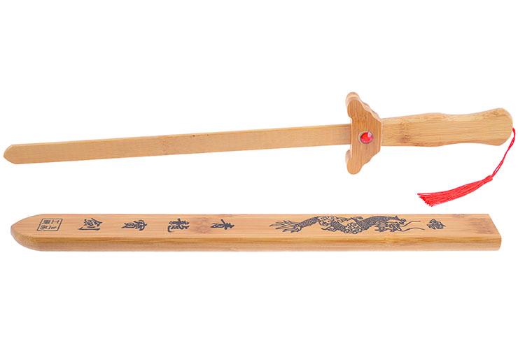 Wooden Straightsword, Dragon Scabbard, Kid