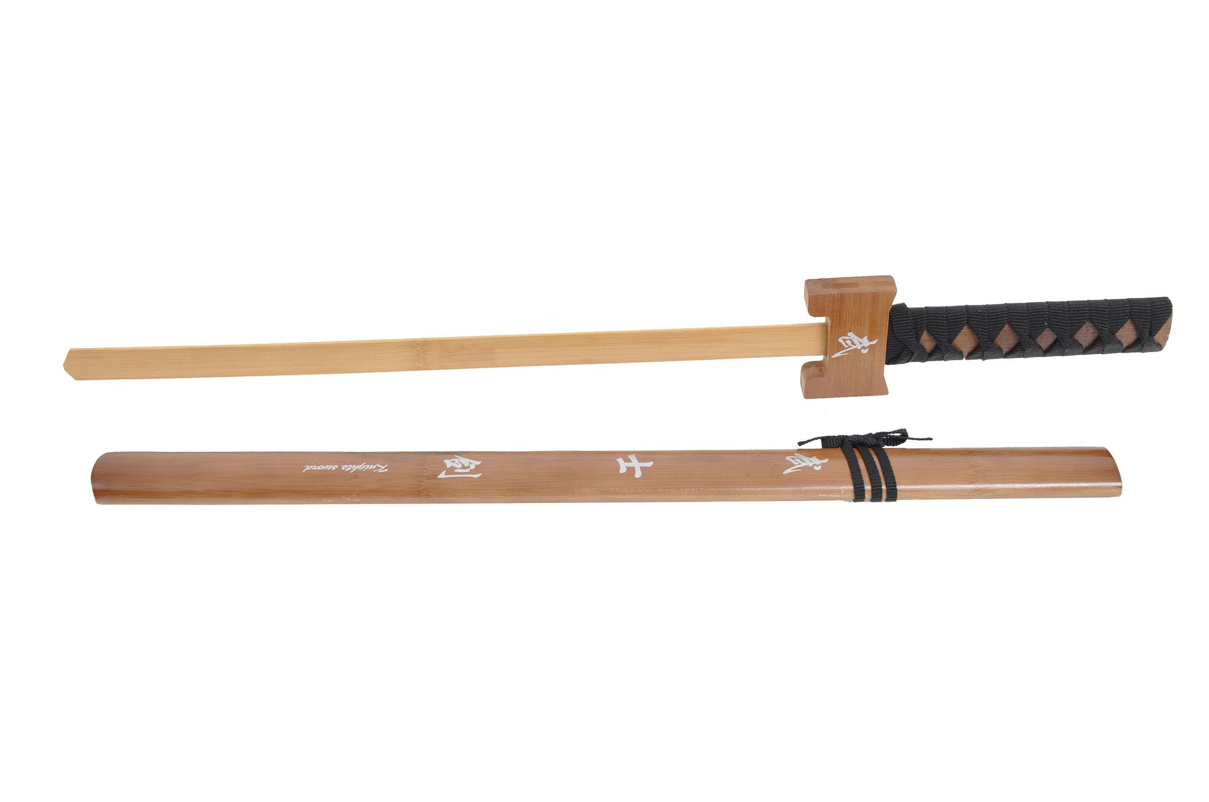 Épée Bois Avec Fourreau - Traditionnelle, Enfant