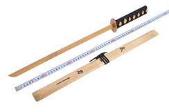 Wooden Katana With Scabbard - Small model