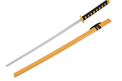 Wooden Katana With Scabbard, Training, Yellow
