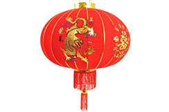 Chinese Decoration Lantern Ø65cm - Dragon & Phoenix