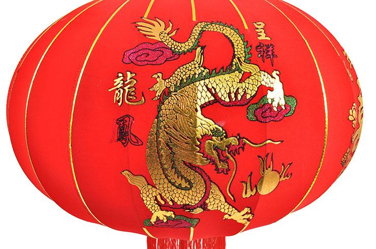 Lanterne Décorative Chinoise Ø65cm - Dragon & Phoenix