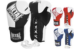 Pro French Boxing Gloves - Lace-up MB207, Metal Boxe