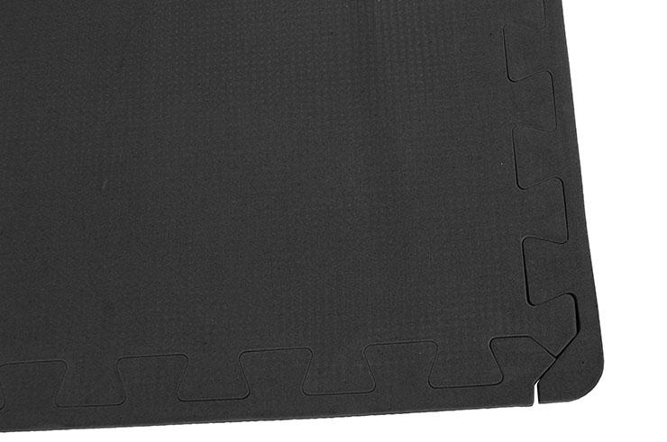 Esterillas Puzzle Gym, Gimnasio en casa - Negro (120 x 120 cm)