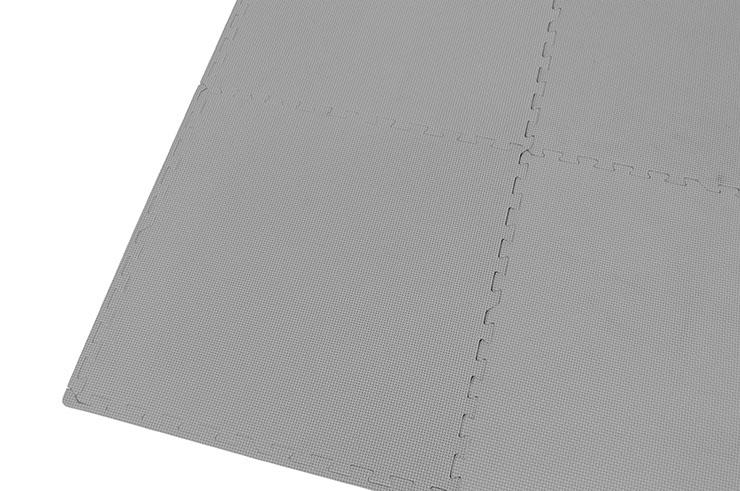 Tatami Puzzle 1 cm, Gris, Motif T (60 x 60 cm) - Lot de 4