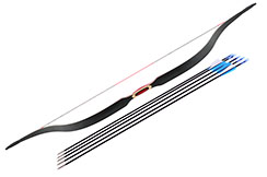 Traditional Chinese Bow, Black & Red (High End)