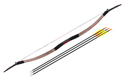 Traditional Chinese Bow, Black & Red (Middle Range)