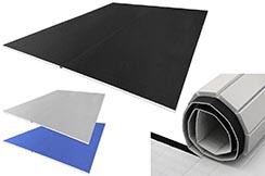 Tatami Enroulable 2,5 cm, gris, Motif Paille de Riz (travail au sol)