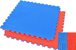 Puzzle Mat WTF - 2,5cm, Blue/Red