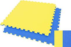 Tatami Puzzle WTF - 2,5 cm, Bleu/Jaune