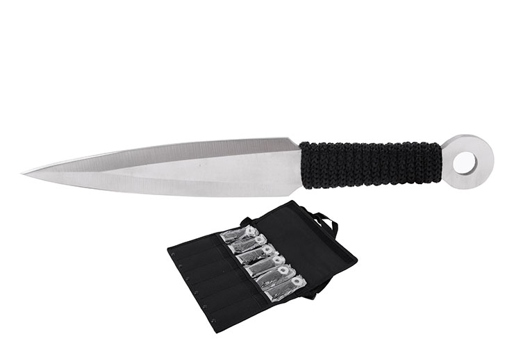 Kunai, Stainless Steel - Set of 6 (20 cm)
