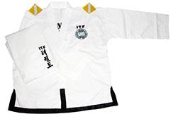 Dobok ITF 1-3 dan Sasung, Cuello Blanco