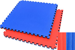 cont53 Taiwan Tatami puzzle 4cm bleu/rouge paille de riz