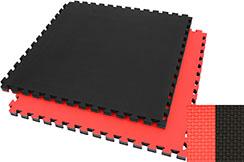 Tatami Puzzle 4 cm, Noir/Rouge, Motif en T (Polyvalent) - Haut de Gamme