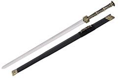 Épée Han QuanHei - Poignée bronze, Rigide