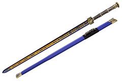 cont56-Epee Han poignée Bronze, fourreau bleu