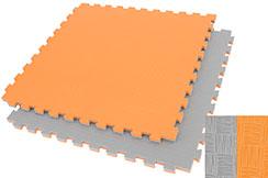 Puzzle Mat WTF - 2.5 cm, Orange/Grey