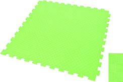 Tatami Rompecabeza WTF - 1cm, Verde, Patrón Paja de Arroz (100 x 100 cm)