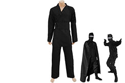 Traje ninja con capa