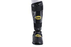 Step & Shinguards WBE - Black XL, Noris