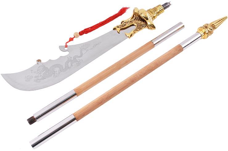 Halberd HaoYue Dragon, dismantable - Golden/wood, Stainless Steel