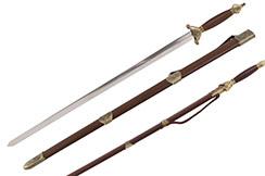 Épée Tai Ji, Tai Chi «Xiang» - Semi Flexible (Fourreau tordu)