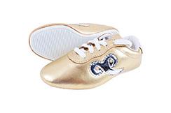 """Zapatillas de Wushu """"Budosaga"""" - Doradas, Talla 31"""