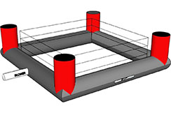 Ring de boxeo inflable