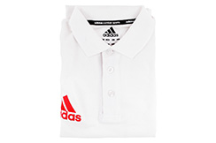 Polo Manches Courte, Community Line - ADITS332, Adidas (Blanc Taille S)