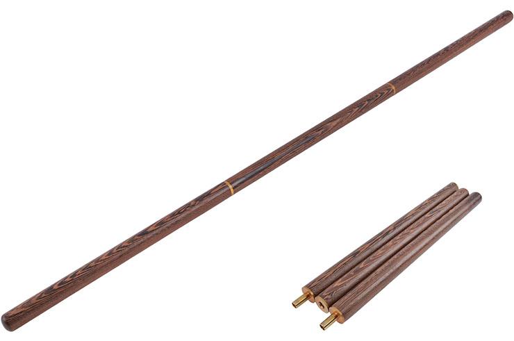Bâton Qi Gong, Démontable - Bois Wengé