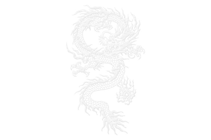 Ceinture Kungfu Dragon Brodé, Classique