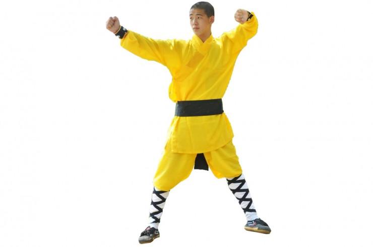 [Déstock] Tenue Shaolin Enfant, satin jaune