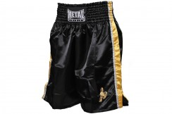 English Boxing Shorts, Black Gold - MB64PRO, Metal Boxe