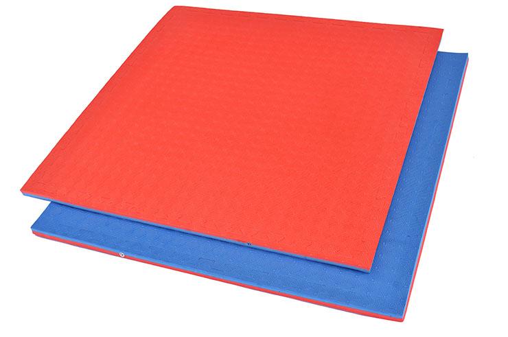Tatami Puzzle, 2,5cm, Bleu/Rouge