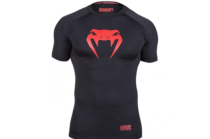 [Final de serie] Camiseta de compresión XL, Negro/Rojo - Contender, Venum