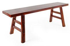 Banco de Kung Fu en madera 2