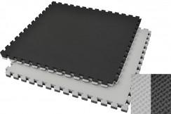 Tatami Puzzle 4,5 cm Noir/Gris - Motif en T (Polyvalent)
