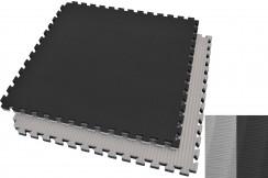 [Destock] Tatami rompecabezas Negro/Gris, 4.5 cm, paja de arroz (entrenamiento de agarre)