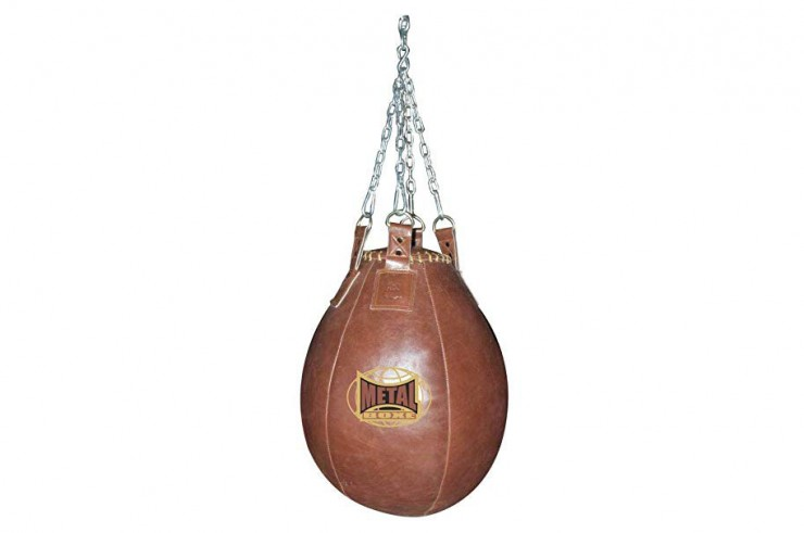 Large Uppercuts and Hooks Bag, Exceptional Leather - JUPITER, Metal Boxe