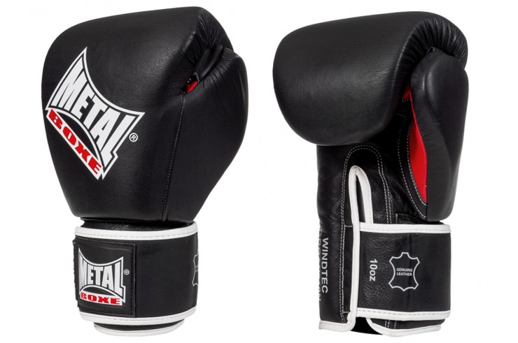 Leather boxing gloves, OKO - GRGAN210N, Metal Boxe