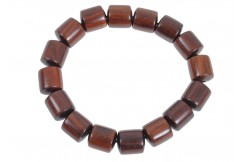 Buddhist Bracelet, Tibetan style - Rectangular Wood 11 mm