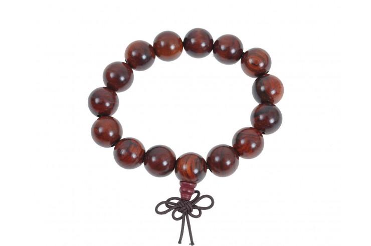 Buddhist Bracelet, Tibetan style - Wood 14 mm