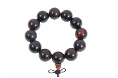 Buddhist Bracelet, Tibetan style - Wood 20 mm