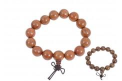 Bracelet Bouddhiste, Style Tibétain - Bois 14 mm